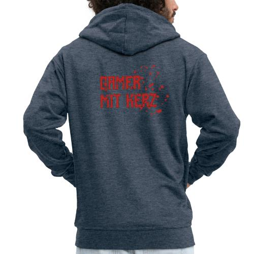 Gamer with heart - Men's Premium Hooded Jacket