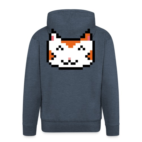 PixelSimpleCat - Men's Premium Hooded Jacket