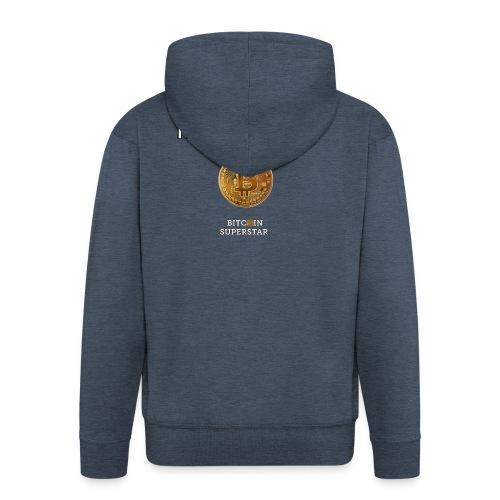 I'm a cryptomaniac - Felpa con zip Premium da uomo