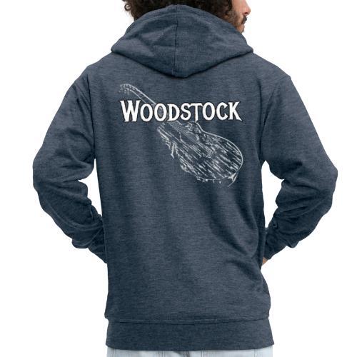 Woodstock Event Gitarre Shirt Geschenk - Männer Premium Kapuzenjacke
