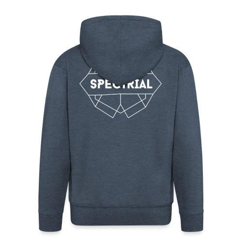 Spectrial_white - Mannenjack Premium met capuchon
