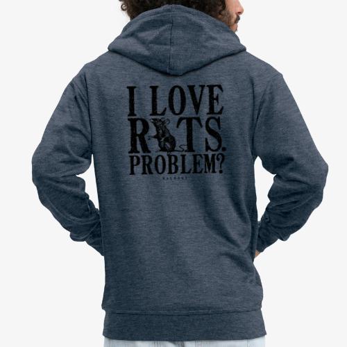 Rats Problem 7 - Miesten premium vetoketjullinen huppari