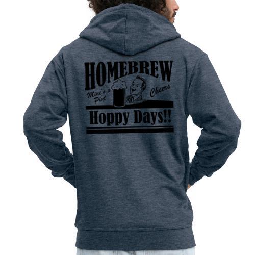 Hoppy Days - Men's Premium Hooded Jacket