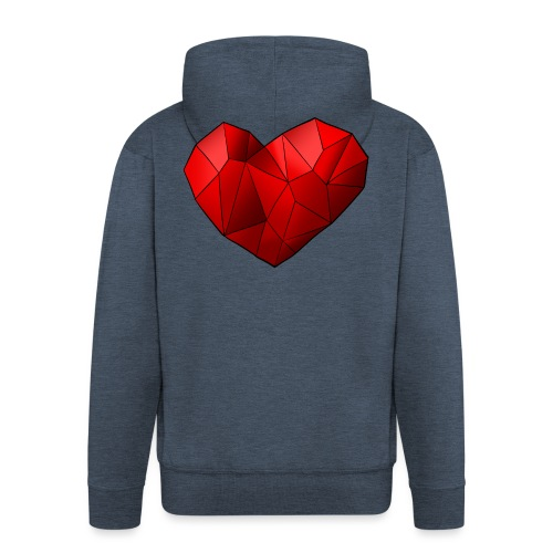 Heartart - Men's Premium Hooded Jacket