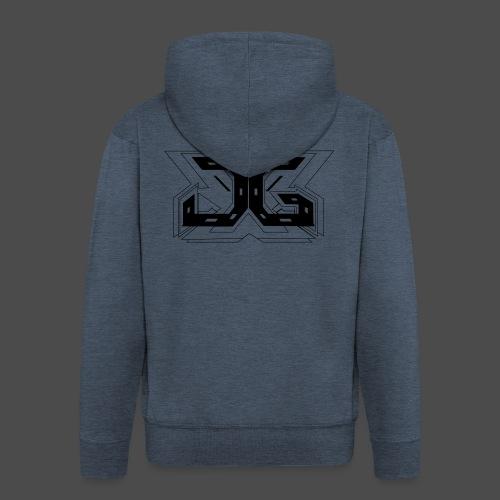 LOGO OUTLINE SMALL - Men's Premium Hooded Jacket