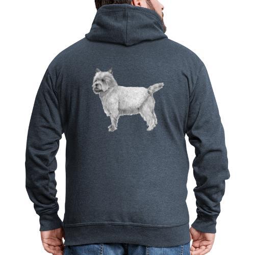 cairn terrier - Herre premium hættejakke