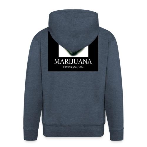 Marijuana - Mannenjack Premium met capuchon