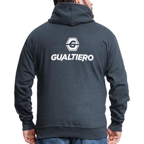 GUALTIERO LOGO WHITE - Mannenjack Premium met capuchon