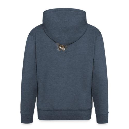 Owl - Felpa con zip Premium da uomo