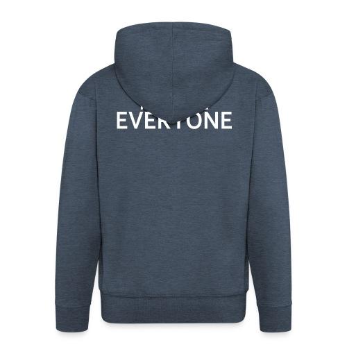I Hate Everyone - Felpa con zip Premium da uomo
