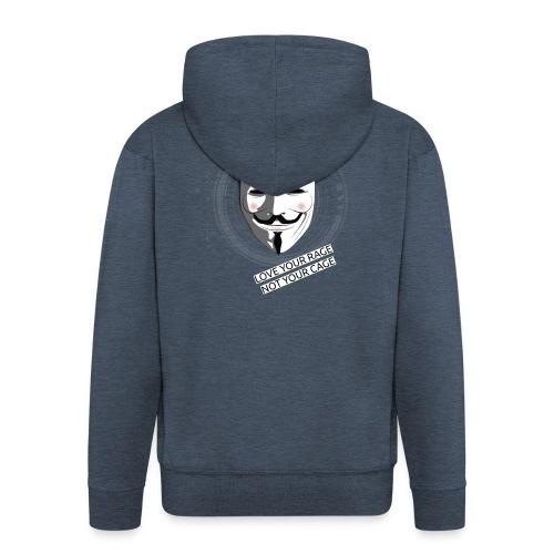 Anonymous Love Your Rage - Men's Premium Hooded Jacket