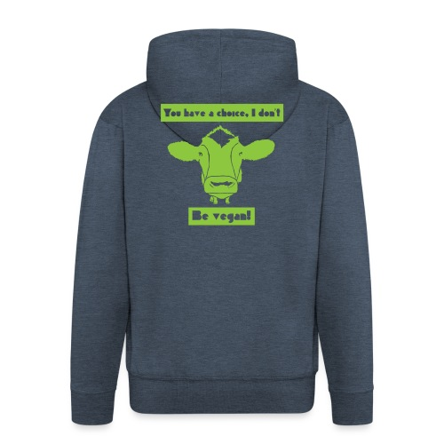 Be Vegan! - Men's Premium Hooded Jacket