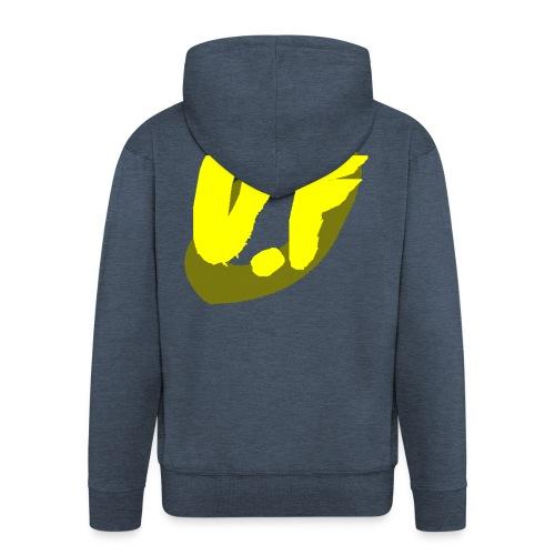camiseta pico logo UF amarillo - Chaqueta con capucha premium hombre