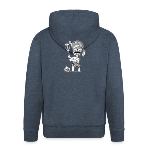 The lion. Rooooaaaarrr! - Felpa con zip Premium da uomo