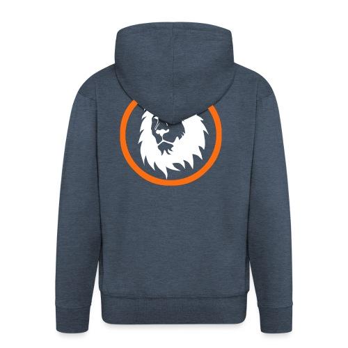 Absogames white lion unisex hoodie - Men's Premium Hooded Jacket