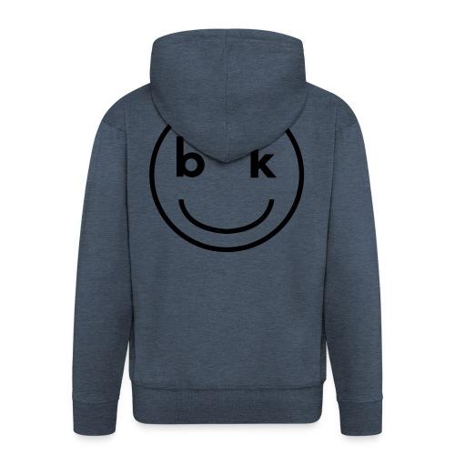 BK snapback - Felpa con zip Premium da uomo