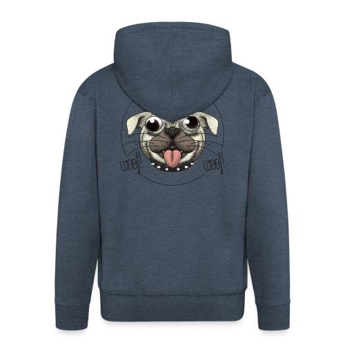 Dog that barks does not bite - Felpa con zip Premium da uomo