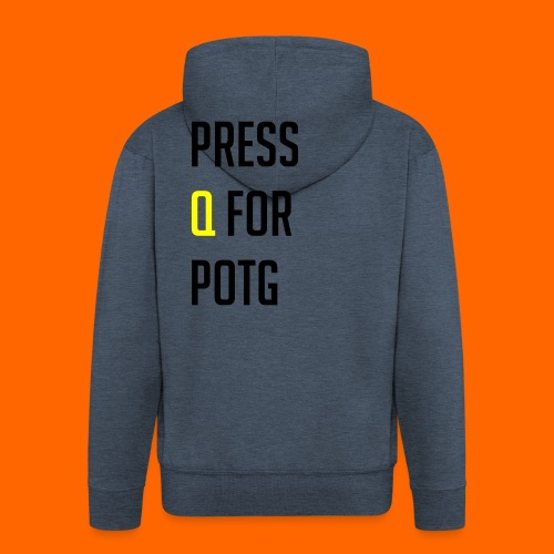 Press Q for play of the game - Men's Premium Hooded Jacket