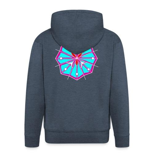 Peyote Flower - Felpa con zip Premium da uomo