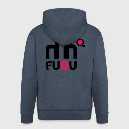 T-shirt FUQU logo colore nero - Felpa con zip Premium da uomo