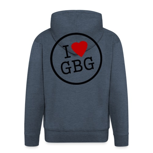 I Love Gbg - tygkasse - Premium-Luvjacka herr