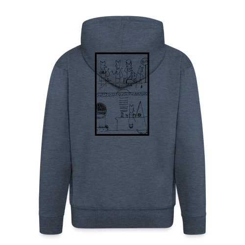 Little Lucifer 1 - Men's Premium Hooded Jacket