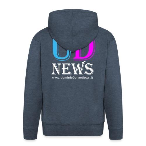 La maglietta di Uomini e Donne News scura - Felpa con zip Premium da uomo