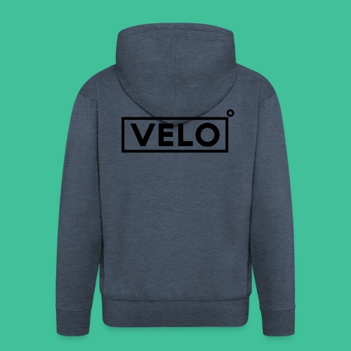 Velo Icon Blk - Long Sleeve Baseball Shirt W/N Clr - Men's Premium Hooded Jacket