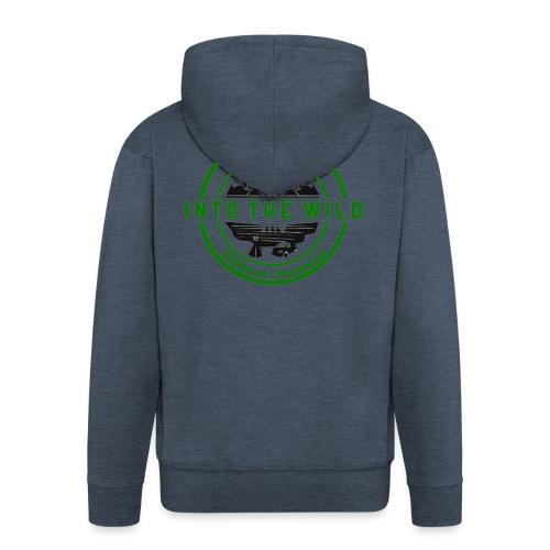 Into The Wild Trekking T-Shirt Donna - Felpa con zip Premium da uomo