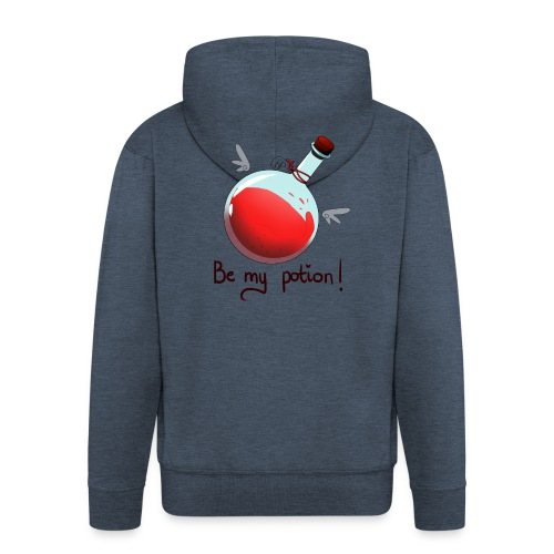Be my potion - Rozpinana bluza męska z kapturem Premium