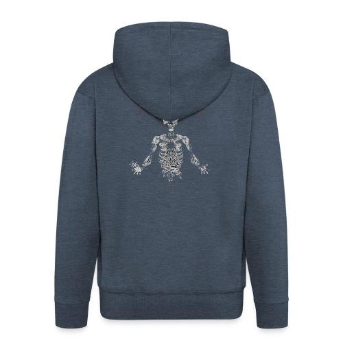 Pethrophia Skeleton - Men's Premium Hooded Jacket