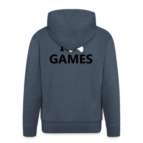 I Love Games - Chaqueta con capucha premium hombre