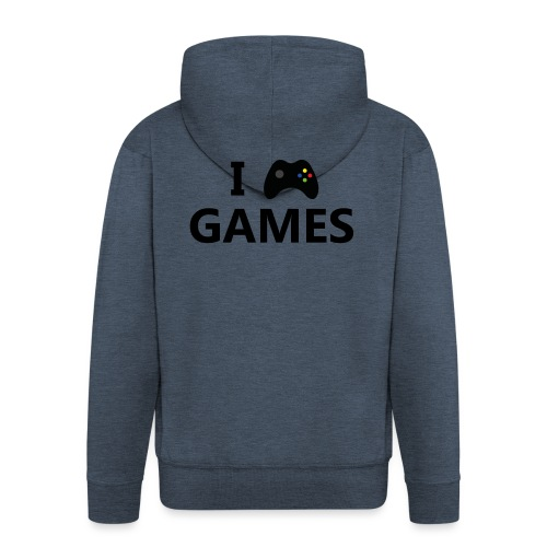 I Love Games 3 - Chaqueta con capucha premium hombre