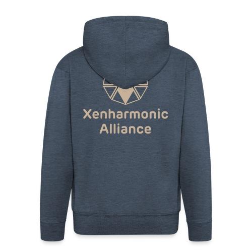 Xenharmonic Aliiance Tan - Men's Premium Hooded Jacket