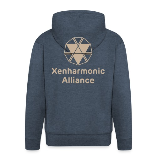 Xenharmonic Aliiance Tan - Men's Premium Hooded Jacket