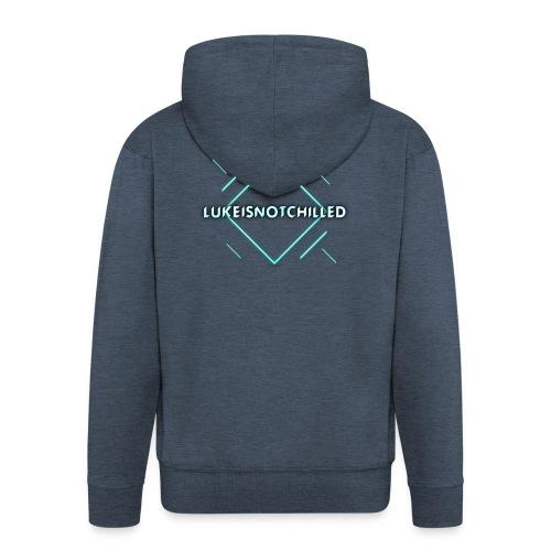 Lukeisnotchilled logo - Men's Premium Hooded Jacket
