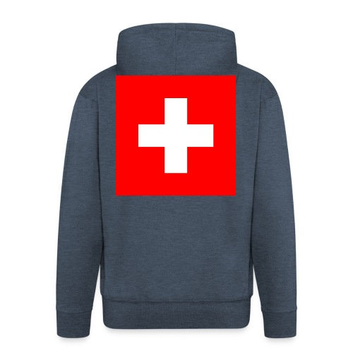 Flag_of_Switzerland - Männer Premium Kapuzenjacke