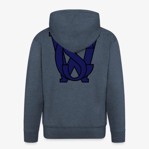 SCW Logo schwarzer rand graue fuellung 07 - Männer Premium Kapuzenjacke