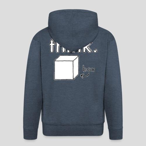 Think Outside The Box Illustration - Men's Premium Hooded Jacket