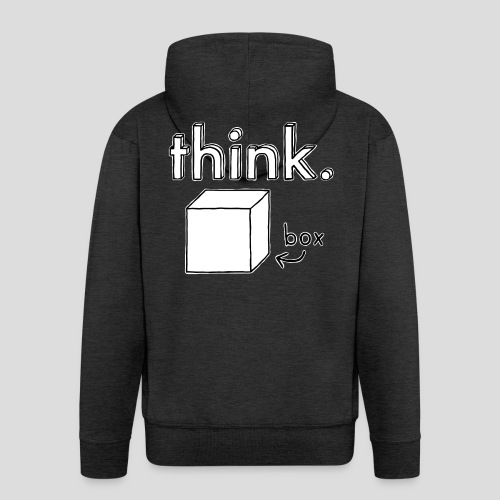 Think Outside The Box Illustration - Men's Premium Hooded Jacket