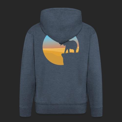 Sunset Elephant - Men's Premium Hooded Jacket