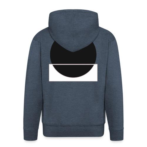 Bianco e nero - Men's Premium Hooded Jacket