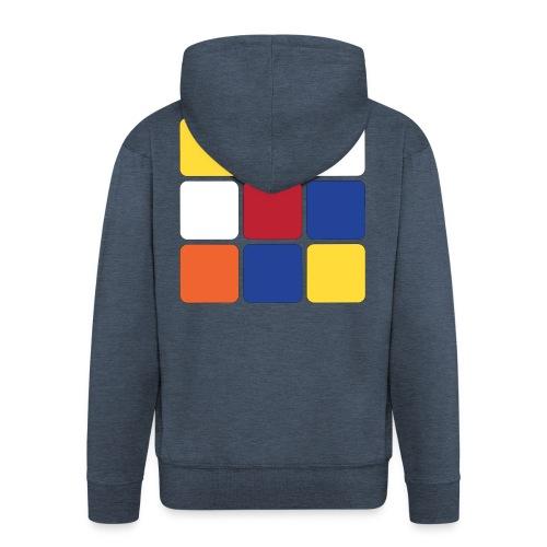 Square - Men's Premium Hooded Jacket