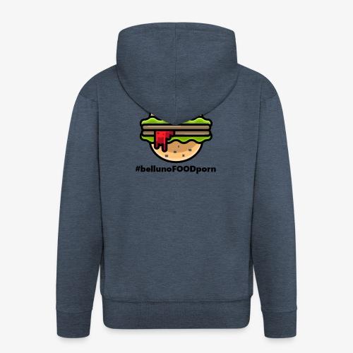 belluno FOOD burger - Felpa con zip Premium da uomo