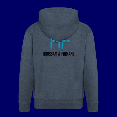 h&f - Felpa con zip Premium da uomo