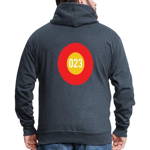 023 logo - Mannenjack Premium met capuchon