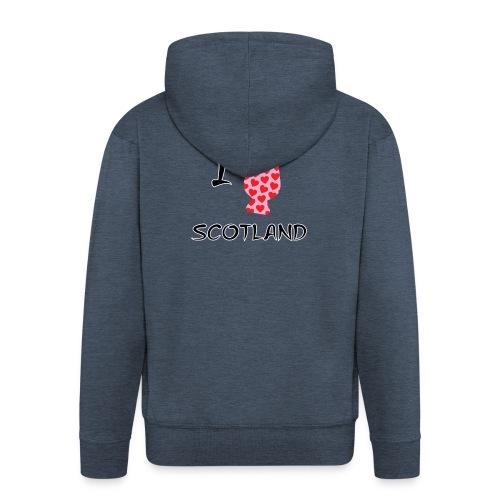 I Love Scotland - Glencairn - Men's Premium Hooded Jacket