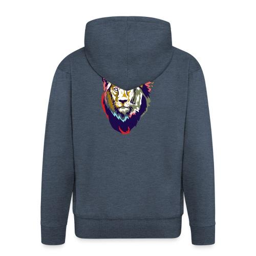 Farbiger Löwe - Männer Premium Kapuzenjacke