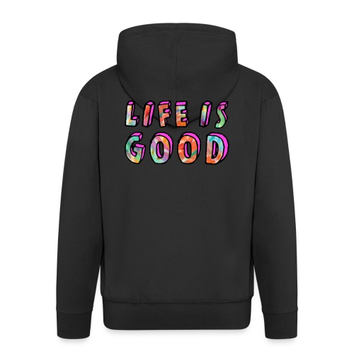 LifeIsGood - Men's Premium Hooded Jacket