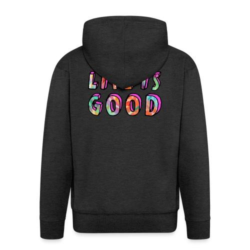 LifeIsGood - Men's Premium Hooded Jacket